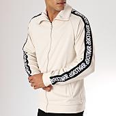 /achat-vestes/asics-veste-zippee-bandes-brodees-light-jersey-ecru-noir-158009.html
