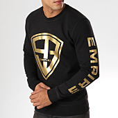 /achat-sweats-col-rond-crewneck/93-empire-sweat-crewneck-93-empire-sleeves-noir-dore-158085.html