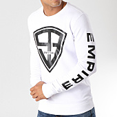 /achat-sweats-col-rond-crewneck/93-empire-sweat-crewneck-93-empire-sleeves-blanc-noir-158095.html