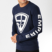 /achat-sweats-col-rond-crewneck/93-empire-sweat-crewneck-93-empire-sleeves-bleu-marine-blanc-158096.html
