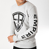 /achat-sweats-col-rond-crewneck/93-empire-sweat-crewneck-93-empire-sleeves-gris-chine-158097.html