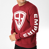 /achat-sweats-col-rond-crewneck/93-empire-sweat-crewneck-93-empire-sleeves-bordeaux-blanc-158098.html