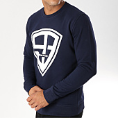 /achat-sweats-col-rond-crewneck/93-empire-sweat-crewneck-93-empire-bleu-marine-blanc-158107.html