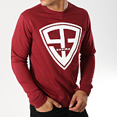 /achat-sweats-col-rond-crewneck/93-empire-sweat-crewneck-93-empire-bordeaux-blanc-158111.html