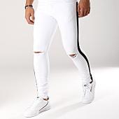 /achat-jeans/classic-series-jean-slim-avec-bandes-1067-blanc-noir-158137.html