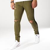 /achat-jeans/classic-series-jean-slim-avec-bandes-1066-vert-kaki-noir-158147.html