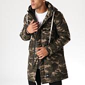 /achat-parkas/sixth-june-parka-m3347cow-vert-kaki-camouflage-158185.html