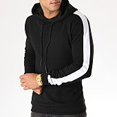 /achat-sweats-capuche/berry-denim-sweat-capuche-avec-bandes-jb18078-noir-blanc-158343.html
