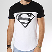 /achat-t-shirts-longs-oversize/superman-tee-shirt-oversize-bicolore-logo-blanc-noir-158333.html