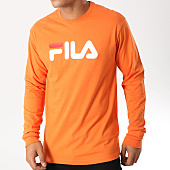 /achat-t-shirts-manches-longues/fila-tee-shirt-manches-longues-classic-pure-681092-orange-158287.html