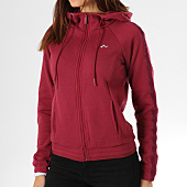 /achat-sweats-zippes-capuche/only-sweat-zippe-capuche-avec-bandes-velours-femme-manna-bordeaux-158266.html