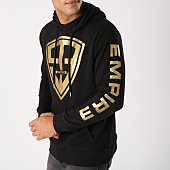 /achat-sweats-capuche/93-empire-sweat-capuche-93-empire-sleeves-noir-or-158400.html