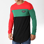 /achat-t-shirts-longs-oversize/gianni-kavanagh-tee-shirt-manches-longues-oversize-gkg748-noir-rouge-vert-158667.html