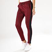 /achat-pantalons-joggings/project-x-pantalon-jogging-femme-avec-bandes-f184020-bordeaux-158663.html