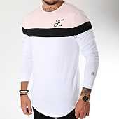 /achat-t-shirts-manches-longues/final-club-tee-shirt-manches-longues-tricolore-avec-broderie-095-blanc-noir-rose-158755.html