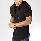 /achat-t-shirts-capuche/lbo-tee-shirt-capuche-oversize-avec-bandes-noir-et-rouge-537-noir-158757.html