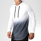 /achat-sweats-capuche/lbo-sweat-capuche-oversize-505-blanc-degrade-noir-158758.html