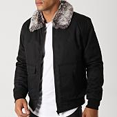 /achat-vestes/brave-soul-veste-zippee-col-mouton-aaron-noir-158820.html