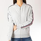 /achat-vestes/brave-soul-sweat-zippe-femme-avec-bandes-simon-gris-chine-158830.html