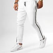 /achat-pantalons-carreaux/frilivin-pantalon-avec-bandes-bm1052-blanc-158858.html