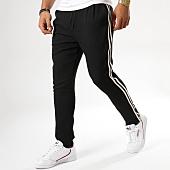/achat-pantalons-carreaux/frilivin-pantalon-avec-bandes-bm1052-noir-158862.html