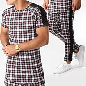/achat-ensembles-survetement/frilivin-ensemble-tee-shirt-oversize-et-pantalon-a-carreaux-5122a-bordeaux-blanc-158886.html