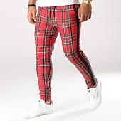 /achat-pantalons-carreaux/frilivin-pantalon-carreaux-avec-bandes-1415-rouge-noir-158939.html