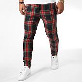 /achat-pantalons-carreaux/frilivin-pantalon-carreaux-avec-bandes-1415-noir-rouge-158940.html
