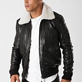 /achat-vestes-cuir/redskins-veste-cuir-col-mouton-pilot-janeiro-noir-158810.html