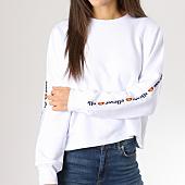 /achat-sweats-col-rond-crewneck/ellesse-sweat-crewneck-femme-crop-bandes-brodees-1076n-blanc-159104.html
