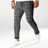 /achat-pantalons-carreaux/mtx-pantalon-carreaux-avec-bandes-tm0002-gris-anthracite-noir-159107.html