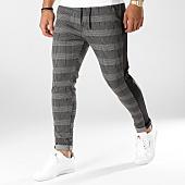/achat-pantalons-carreaux/mtx-pantalon-carreaux-avec-bandes-tm0004-gris-anthracite-noir-159116.html