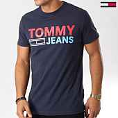 /achat-t-shirts/tommy-hilfiger-jeans-tee-shirt-essential-logo-4528-bleu-marine-159118.html