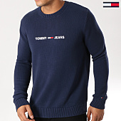 /achat-pulls/tommy-hilfiger-jeans-pull-small-logo-5829-bleu-marine-159131.html