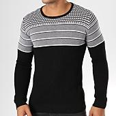 /achat-pulls/john-h-pull-jp02-noir-blanc-159162.html