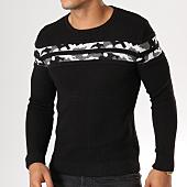 /achat-pulls/john-h-pull-jp09-noir-avec-bande-camouflage-159210.html