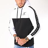 /achat-sweats-capuche/final-club-sweat-capuche-bicolore-avec-bandes-et-broderie-130-noir-blanc-159331.html