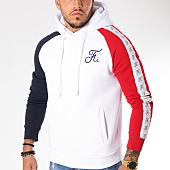/achat-sweats-capuche/final-club-sweat-capuche-tricolore-raglan-avec-bandes-et-broderie-136-bleu-blanc-rouge-159336.html