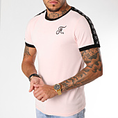 /achat-t-shirts/final-club-tee-shirt-premium-fit-avec-bandes-139-rose-159425.html