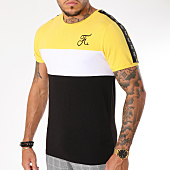 /achat-t-shirts/final-club-tee-shirt-tricolore-avec-bandes-129-noir-blanc-jaune-159428.html