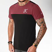 /achat-t-shirts/final-club-tee-shirt-bicolore-114-noir-bordeaux-159430.html