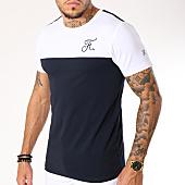 /achat-t-shirts/final-club-tee-shirt-bicolore-115-bleu-marine-blanc-159431.html