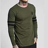 /achat-t-shirts-manches-longues/siksilk-tee-shirt-manches-longues-oversize-tournament-13571-vert-kaki-159355.html