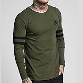 /achat-t-shirts-manches-longues/siksilk-tee-shirt-manches-longues-oversize-tournament-13571-vert-kaki-159355.html