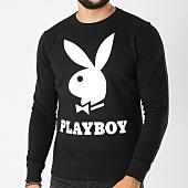 /achat-sweats-col-rond-crewneck/playboy-sweat-crewneck-logo-noir-159576.html