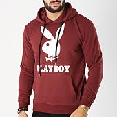 /achat-sweats-capuche/playboy-sweat-capuche-logo-bordeaux-159662.html