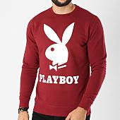 /achat-sweats-col-rond-crewneck/playboy-sweat-crewneck-logo-bordeaux-159692.html