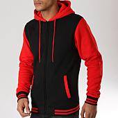 /achat-sweats-zippes-capuche/urban-classics-sweat-zippe-capuche-tb287-noir-rouge-159669.html