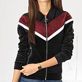 /achat-vestes/project-x-veste-zippee-femme-velours-f183028-noir-blanc-bordeaux-159799.html