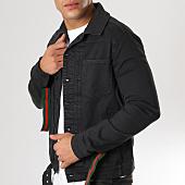 /achat-vestes-jean/classic-series-veste-jean-bandes-brodees-1187-noir-160042.html